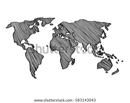 World map simple drawn vector stock vector 583143043 shutterstock world map simple drawn vector gumiabroncs Images