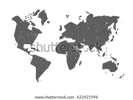 World map simple world map gray stock vector 622421996 shutterstock world map simple world map gray world map on white background gumiabroncs Images