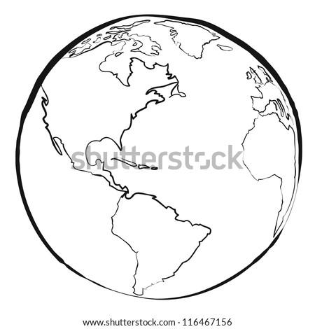 World map sketch vector vector de stock116467156 shutterstock world map sketch vector gumiabroncs Images