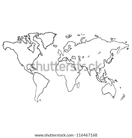 World map sketch vector vectores en stock 116467168 shutterstock world map sketch vector gumiabroncs Images