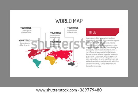 World map template 4 - stock vector