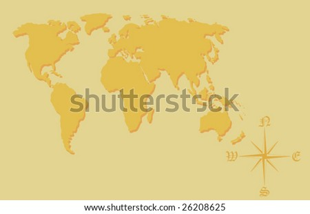 World map. To see similar please visit my gallery. - stock vector