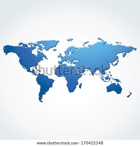 World map vector.  - stock vector