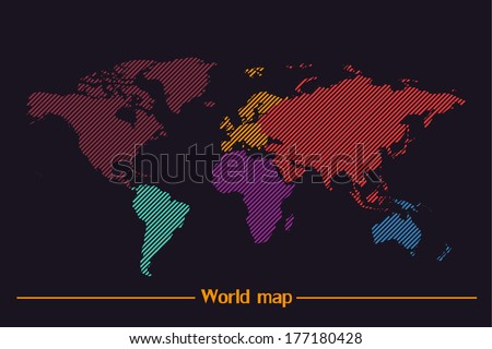 Coreldraw imgenes pagas y sin cargo y vectores en stock shutterstock world map vector gumiabroncs Images