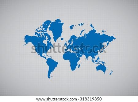 World map. Vector - stock vector