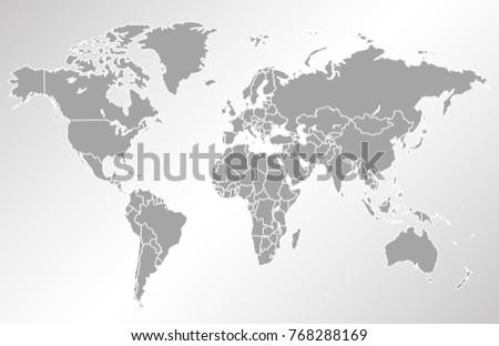 World map vector vector de stock768288169 shutterstock world map vector gumiabroncs Image collections