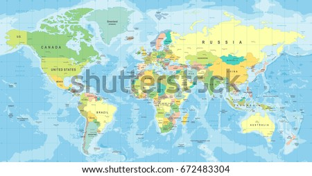 Vintage world map markers detailed vector vectores en stock world map vector high detailed illustration of worldmap gumiabroncs Image collections