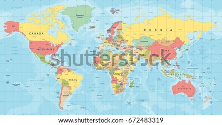 World map vector high detailed illustration vectores en stock world map vector high detailed illustration of worldmap gumiabroncs Choice Image