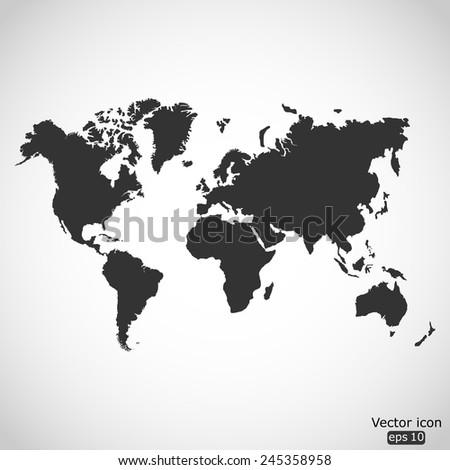 world map vector icon - stock vector