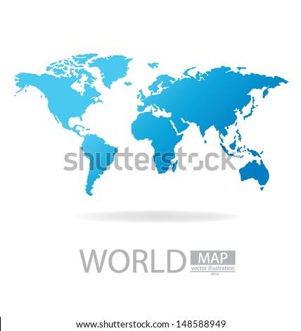 World map vector illustration stock vector 2018 148588949 world map vector illustration gumiabroncs Choice Image