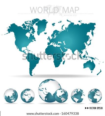 World map. Vector Illustration. - stock vector