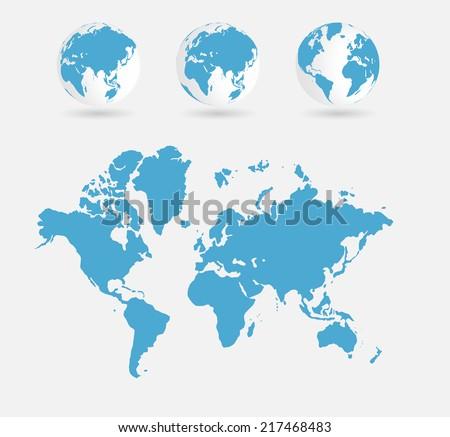 World map vector illustration stock vector 2018 217468483 world map vector illustration gumiabroncs Choice Image