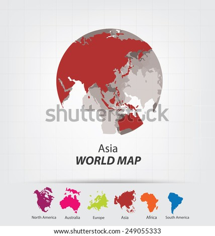 Pacific map stock images royalty free images vectors shutterstock world map vector illustration gumiabroncs Image collections
