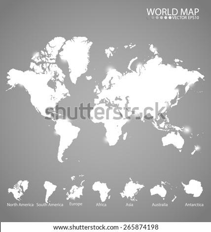 World map, vector illustration. - stock vector