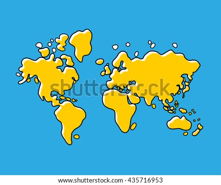 World Map Cartoon Stock Images RoyaltyFree Images Vectors