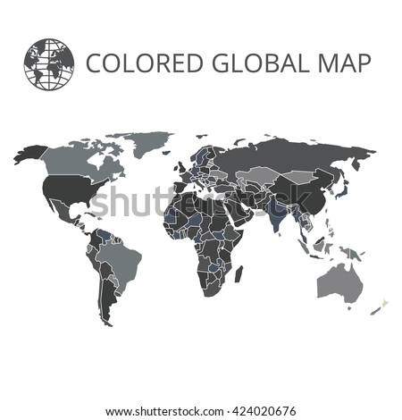 World map vector illustration highquality image stock vector world map vector illustration high quality image in the style of broken lines gumiabroncs Images