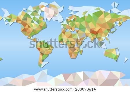 Vector polygonal world map low poly vectores en stock 721619452 world map vector mosaic art gumiabroncs Choice Image