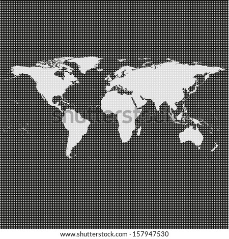 world map vector on a black background