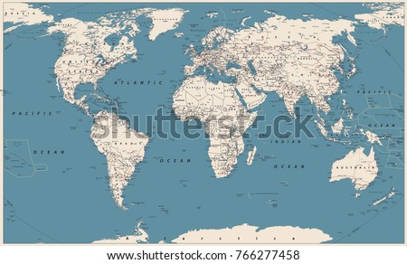 World map vector vintage high detailed stock vector 766277458 world map vector vintage high detailed vector illustration of world map gumiabroncs Image collections