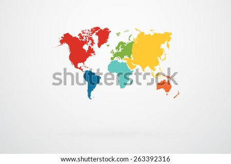 World map vector continent border retro stock photo photo vector world map vector with continent border in retro color palette gumiabroncs Image collections