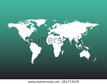 World map vector, World map outlines - stock vector
