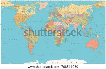Map world vintage style large detailed stock vector 767832496 world map vintage color style large detailed world map vector illustration gumiabroncs Images