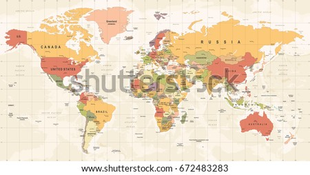 World map vintage vector high detailed vectores en stock 672483283 world map vintage vector high detailed illustration of worldmap gumiabroncs