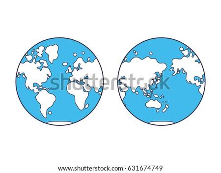 World map western eastern globe hemisphere stock vector 631674749 world map western and eastern globe hemisphere sciox Images