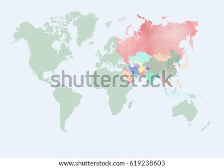 World map asia countries stock vector 619238603 shutterstock world map with asia countries gumiabroncs Images