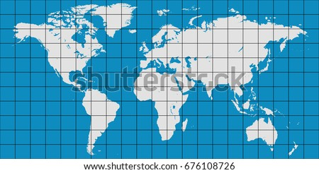 World map coordinate grid meridian parallel vectores en stock world map with coordinate grid and meridian and parallel vector map of planet earth gumiabroncs Image collections