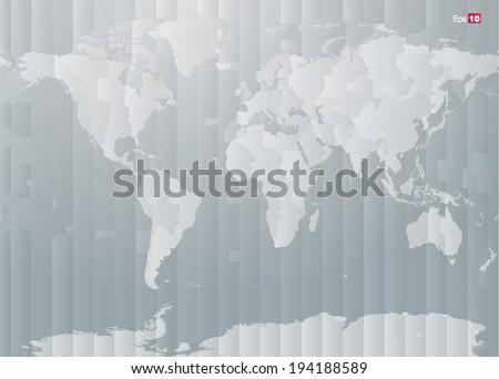 World map countries timezones editable vector vectores en stock world map with countries and timezones in editable vector format gumiabroncs Images