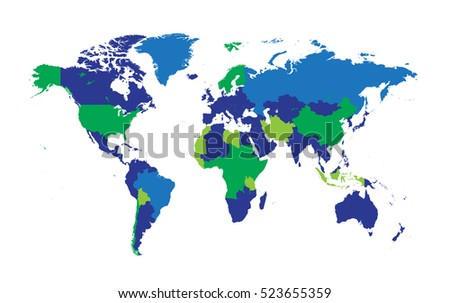 World map countries flat design vector vectores en stock 523655359 world map with countries flat design vector gumiabroncs Choice Image