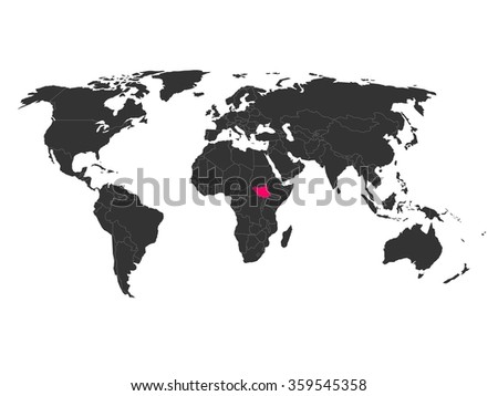 South sudan map stock images royalty free images vectors world map with highlighted south sudan gumiabroncs Gallery