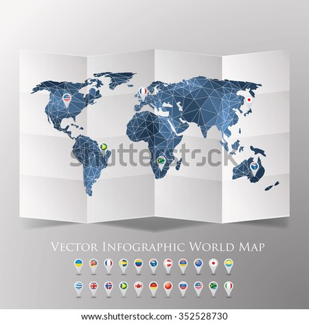 World map national flags vector illustration stock vector 352528730 world map with national flags vector illustration gumiabroncs Image collections