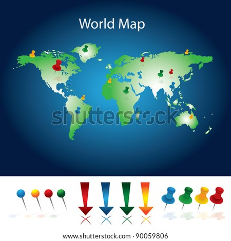 World Map With Pins1