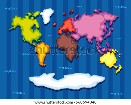 7 continents stock images royalty free images vectors world map with seven continents illustration gumiabroncs Images