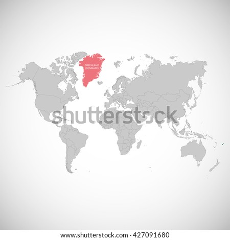 World map mark country greenland vector vectores en stock 427091680 world map with the mark of the country greenland vector illustration gumiabroncs Image collections