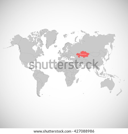World map mark country kazakhstan vector stock photo photo vector world map with the mark of the country kazakhstan vector illustration gumiabroncs Choice Image