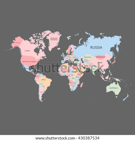 World map with country names stock images royalty free images world map with the names of the countries vector illustration gumiabroncs Choice Image