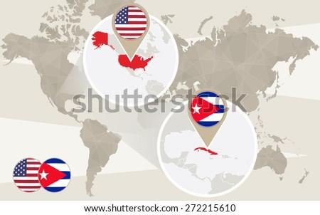 World map zoom on usa cuba stock vector hd royalty free 272215610 world map zoom on usa cuba vector illustration gumiabroncs Choice Image
