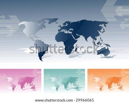World Maps - stock vector