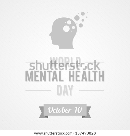 World Mental Health Day - stock vector