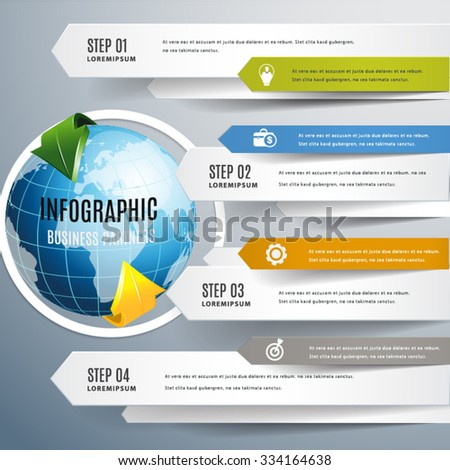 World modern arrow infographic.education and business concept design,can used for banner,infographic,data,presentation business,chart,sign,brochure,leaflet ,web.Vector illustration.