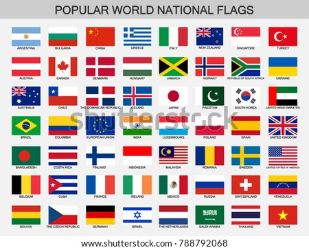 world national flags set