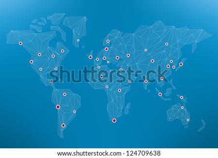 world network - stock vector