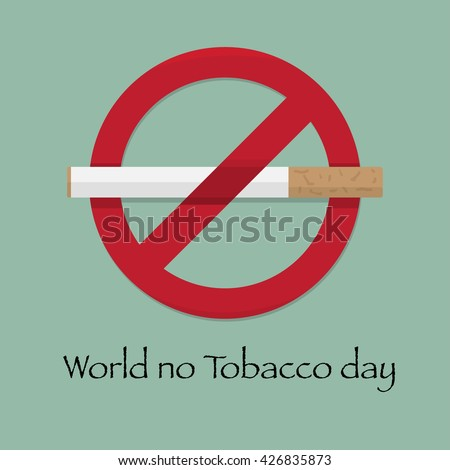 World no tobacco day, flat design vector illustration 31 May,eps10