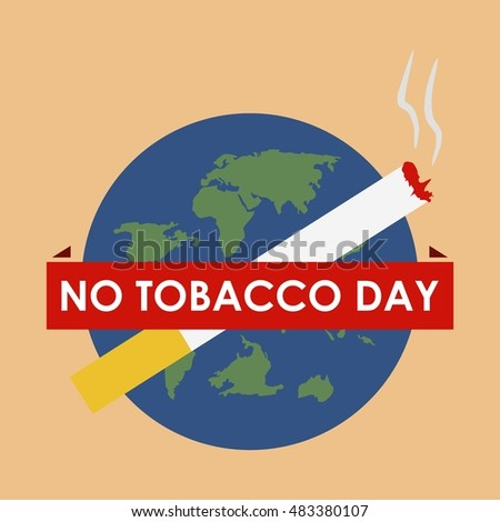 World No tobacco day, Smoking awareness campaign.