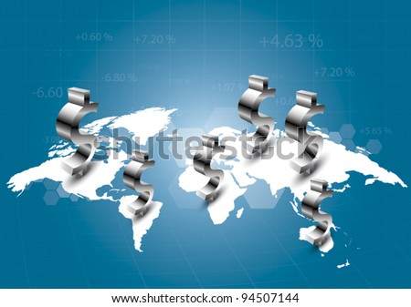 World of commercial - stock vector