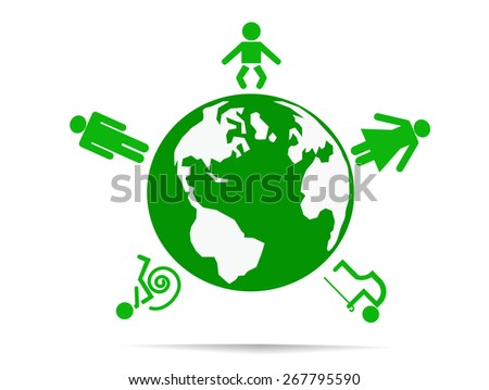 World of people.Vector illustration