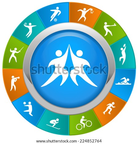 World of sports. - stock vector